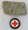 2pcs-WW2 DRK (German Red Cross) Collar Tab-Enamel Helper Badge