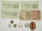 10pcs-WW2 German Wehrmacht Paper Currency-Pfenning Coins-Sterling Reichsmarks.