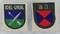 2pcs-WW2 German Foreign Volunteer Arm Shield Patches