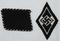 2pcs-Allgemeine SS Collar Tab-SS Hitler Youth Sleeve Diamond