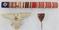 3pcs-WW1/WW2 German Veterans Stickpin-Cap Eagle-Ribbon Bar