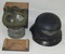 2pcs-WW2 German Luftschutz Helmet-German Civilian Gas Mask With Wood Box