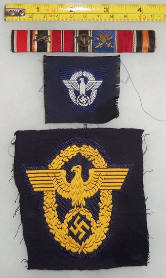 3pcs-WW2 German Ribbon Bar-Polizei Insignia