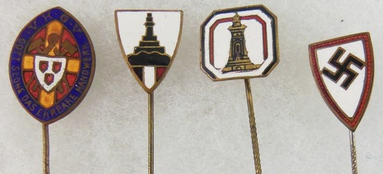 4pcs-Misc WW2 German Veteran Stickpins