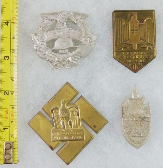 4pcs-WW2 German Rally Badges