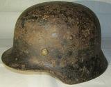 WW2 German M35 Battlefield Relic Helmet-Unit  Marked