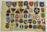 WW2 Period U.S. Patch Pillowcase-91 Patches