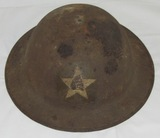WW1 M1917/P17 2nd Division/4th Marine Rgt-Supply Co. Helmet (HG-23)