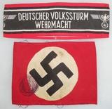 2pcs- NSDAP/Volkssturm Armbands