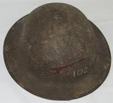 WW1 M1917/P17 Helmet-26th Division 102nd Field Artillery (HG-23)