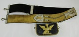 Circa Early 1900's Prussian/Austro-Hungarian? Dress Cross Strap with Cartridge Pouch (U-52)