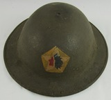 WW1 M1917/P17 US Doughboy Helmet-2nd Division/9th Inf. Rgt./2nd Bn. (HG-23)