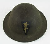 WW1 US M1917/P17 Doughboy Helmet with Camoflage Corps Insignia (HG-23)