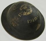 WW1 British MKI British Soldier Helmet-11th Somerset Light Inf./59th Div. (HG-23)