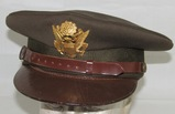 Rare WW2 US Army/AAF Officer's Visor Cap with Depot Stamping (HG-36)