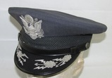 Rare Early USAF Senior Officer's Visor Cap-Occupation Made (HG-33)