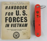 2 pcs. Vietnam War Handbook for US Forces and Paratrooper Automatic Knife