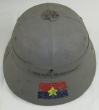 Vietnam War Viet Cong Pith Helmet with Special Forces Soldier Art Work-Plei Me (HG-1)