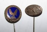 2pcs-Scarce WW2 Period  D.L.R.G. (German Life Saving Association) Stickpins