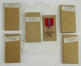 5 pcs. WW2 Unissued Bronze Star Medals (BM-96a)