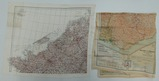 2 pcs. Scarce WW2 US/RAF Escape/Evasion/Invasion Cloth Maps (RM)