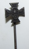 Scarce Nazi Police Long Service Stick Pin in Silver for 18 Years Service