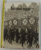 Early Nazi Party Deutschland erwacht Cigarette/Photo Card Album with Dust Cover