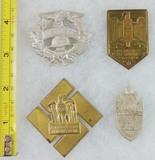 4pcs-WW2 German Rally Badges