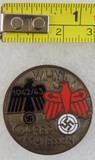 1942/43 WHW Opferschiessen Shooting Contest Award Badge In Silver