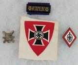 4pcs-Nazi Veterans Association Pins/Patch