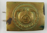 Early SA Belt Buckle For Lower Ranks-Static Swastika