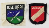 2pcs-WW2 Waffen SS Latvian And Volga Tartar Volunteers Arm Shields.