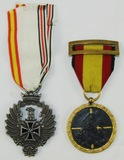 2pcs-Spanish Blue Division And Campaign Medals