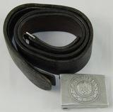Heer Pebbled Aluminum Buckle With Tab & Belt-Desirable Maker-Gustav Brehmer