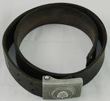 RAD Leather Belt With Pebbled Aluminum Buckle-1938 H. Aurich