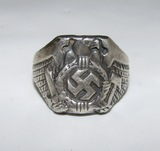 German Soldier Sterling Ring-Very Art Deco Style