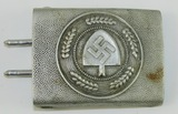 RAD Pebbled Aluminum Belt Buckle For Lower Ranks-1936 Dated By Assmann