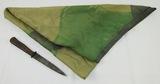 2pcs- WW2 German Camo Parachute Scarf-German Soldier/Paratrooper Fighting Knife