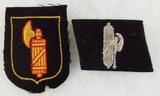 2pcs-WW2 Italian SS Volunteers Collar Tab-Arm Shield