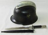 2pcs-WW2 German Fireman/Fire Police Helmet-Dress