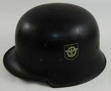 German Fireman/Fire Police Double Decal M34 Civil Helmet