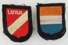 2pcs-WW2 Waffen SS Foreign Volunteer Arm Shields-Latvia/Holland
