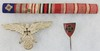 3pcs-WW1/WW2 German Veterans Stickpin-Cap Eagle-Ribbon Bar