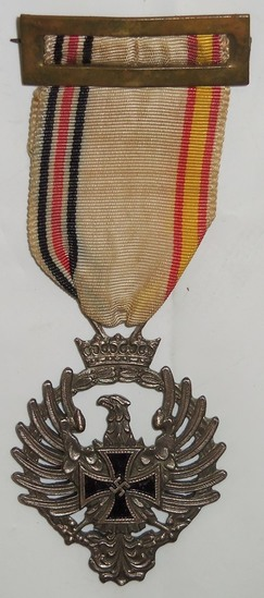 "Early WW2 Spanish ""Blue Division"" Medal For Enlisted"