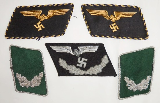 5pcs-WW2 German Reichsbahn/Forestry Official Collar Tabs