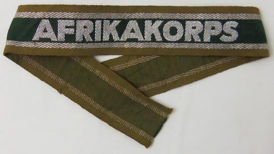 """WW2 German """"AFRIKAKORPS"""" Cuff Title"""