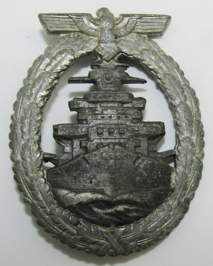 WW2 German Kreigsmarine High Seas Fleet Badge By Schwerin