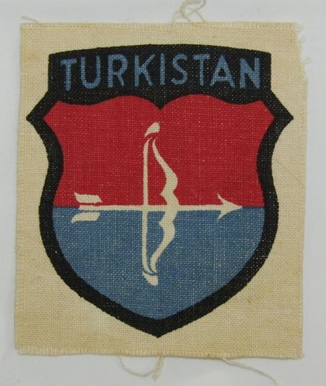1st Pattern Arm Shield For Turkestani Volunteers In The Wehrmacht-Printed Version