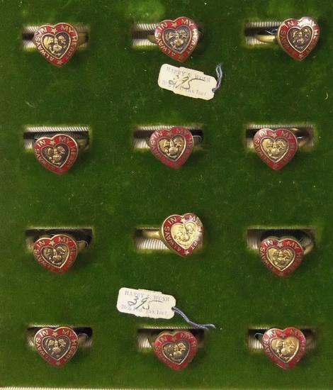 12 Pcs WW2 Period USMC Sweetheart Rings