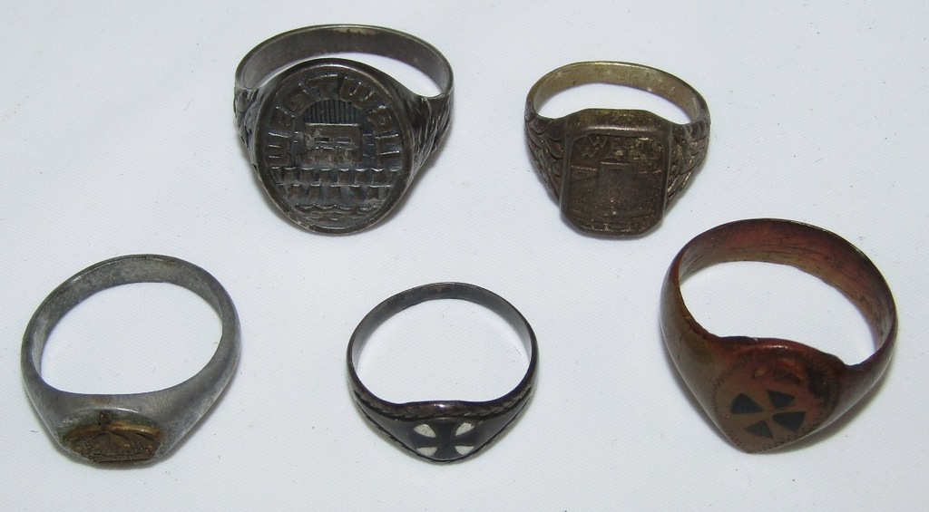 5pcs-WW1/WW2 German Soldier Rings-West Wall Rings